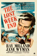 Movie Posters:Academy Award Winners, The Lost Weekend (Paramount, 1945). Folded, Very Fine....