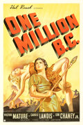 Movie Posters:Fantasy, One Million B.C. (United Artists, 1940). Fine/Very Fine on...