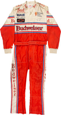 1986 Terry Labonte Race Worn & Signed NASCAR Winston Cup Series Fire Suit - Championship Winning Series!