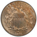 1876 5C Tripled Die Obverse, FS-101, MS64 PCGS. PCGS Population: (1/1 and 0/0+). NGC Census: (1/1 and 0/0+). MS64. Minta...