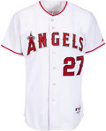 Baseball Collectibles:Uniforms, Circa 2005 Vladimir Guerrero Game Worn & Signed Los Angeles Angels of Anaheim Jersey. ...