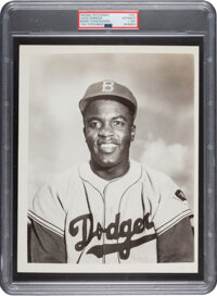 Circa 1951 Jackie Robinson Original Photograph Used for 1953 Topps Card by Barney Stein, PSA/DNA Type 1