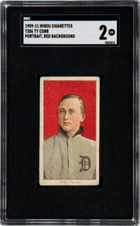 1909-11 T206 Hindu-Red Ty Cobb (Portrait-Red) SGC Good 2 - The Only SGC-Graded Example!
