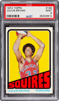 Basketball Cards:Singles (1970-1979), 1972 Topps Julius Erving Rookie #195 PSA Mint 9 - Only One Higher! ...