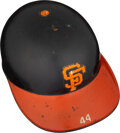 Baseball Collectibles:Others, 1977-80 Willie McCovey Game Worn San Francisco Giants Batting Helmet from The Willie McCovey Collection -- Photo Matched!...