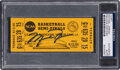 Basketball Collectibles:Others, 1982 NCAA Semi-Finals Full Ticket Signed by Michael Jordan (UDA), PSA/DNA Authentic....