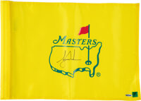 2000's Tiger Woods Signed Match Used Masters Flag