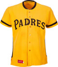 Baseball Collectibles:Uniforms, 1973 Cito Gaston Game Worn & Signed San Diego Padres Jersey -- Rare Style....