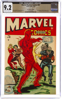 Marvel Mystery Comics #89 The Promise Collection Pedigree (Timely, 1948) CGC NM- 9.2 Off-white to white pages
