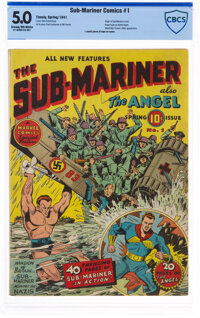 Sub-Mariner Comics #1 (Timely, 1941) CBCS VG/FN 5.0 Cream to off-white pages
