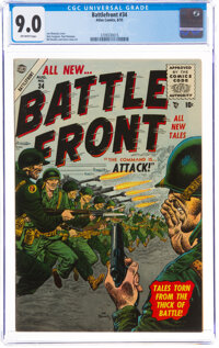Battlefront #34 (Atlas, 1955) CGC VF/NM 9.0 Off-white pages