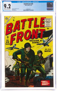 Battlefront #30 (Atlas, 1955) CGC NM- 9.2 Off-white to white pages