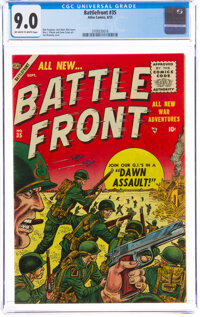 Battlefront #35 (Atlas, 1955) CGC VF/NM 9.0 Off-white to white pages