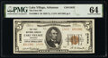 National Bank Notes:Arkansas, Lake Village, AR - $5 1929 Ty. 2 The First National Bank Ch. # 13632 PMG Choice Uncirculated 64.. ...