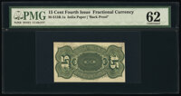 Milton S15R.1a 15¢ Fourth Issue Specimen Back PMG Uncirculated 62