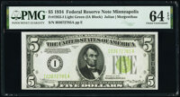 Fr. 1955-I $5 1934 Federal Reserve Note. PMG Choice Uncirculated 64 EPQ
