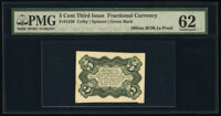 Milton 3E5R.1a Fr. 1238 5¢ Third Issue Green Back Bristol Board Proof PMG Uncirculated 62
