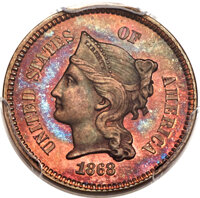 1868 1C One Cent, Judd-609, Pollock-674, High R.7, PR65 Red and Brown PCGS. CAC....(PCGS# 70821)