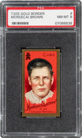 Baseball Cards:Singles (Pre-1930), 1911 T205 Sweet Caporal Mordecai Brown PSA NM-MT 8 - Pop Four, One Higher....