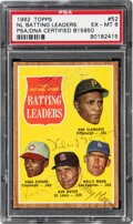 """Autographs:Sports Cards, Signed 1962 Topps """"1961 NL Batting Leaders"""" - Clemente, Pinson, Boyer, Moon #52 PSA EX-MT 6, PSA/DNA Certified...."""