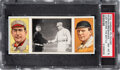 """Baseball Cards:Singles (Pre-1930), 1912 T202 Hassan """"Just Before the Battle"""" - Bresnahan-McGraw PSA NM-MT 8. ..."""