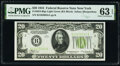 Small Size:Federal Reserve Notes, Fr. 2054-B $20 1934 Federal Reserve Note. PMG Choice Uncirculated 63 EPQ.. ...
