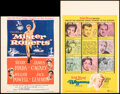 """Movie Posters:Comedy, Mister Roberts & Other Lot (Warner Bros., 1955). Folded, Fine+. Trimmed Window Card (14"""" X 18""""), Window Card (14"""" X 22""""), In... (Total: 5 Items)"""