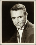 """Movie Posters:Miscellaneous, Cary Grant (Warner Bros., 1946). Very Fine+. Autographed Portrait Photo (8"""" X 10""""). Miscellaneous.. ..."""