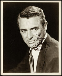 """Cary Grant (Warner Bros., 1946). Very Fine+. Autographed Portrait Photo (8"""" X 10""""). Miscellaneous"""