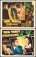 """Movie Posters:Crime, Dick Tracy Meets Gruesome & Other Lot (RKO, 1947). Fine/Very Fine. Lobby Cards (2) (11"""" X 14""""), Uncut Pressbook (8 Pages, 11... (Total: 3 Items)"""