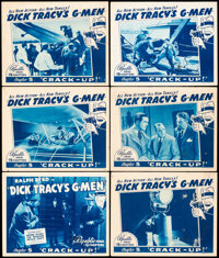 """Dick Tracy's G-Men (Republic, 1939). Fine. Title Lobby Card & Lobby Cards (5) (11"""" X 14""""). Chapter 5 -- &q..."""