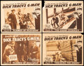"""Movie Posters:Serial, Dick Tracy's G-Men (Republic, 1939). Fine. Title Lobby Card & Lobby Cards (3) (11"""" X 14"""") Chapter 9 -- """"Flames of Jeopardy.""""... (Total: 4 Items)"""