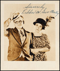 """Fibber McGee and Molly (NBC Radio, 1930s). Fine/Very Fine. Autographed Publicity Photo (3.75"""" X 4.5""""). Comedy..."""