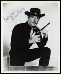 Movie Posters:Western, Richard Boone in Have Gun -- Will Travel & Other Lot (1970s). Overall: Very Fine. Autographed Publicity Photo & Television P... (Total: 2 Items)