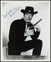 Richard Boone in Have Gun -- Will Travel & Other Lot (1970s). Overall: Very Fine. Autographed Publicity Photo &...