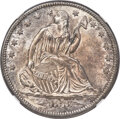 1873-CC 50C Arrows, Open 3, Large CC, Repunched Date, WB-Unlisted, Die Pair 7, R.4, MS65 NGC....(PCGS# 800681)