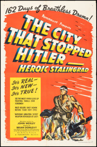 """The City That Stopped Hitler -- Heroic Stalingrad (Paramount, 1943). Folded, Fine/Very Fine. One Sheet (27"""" X 41&qu..."""