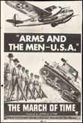"""Movie Posters:Documentary, The March of Time (RKO, 1940). Folded, Fine. Trimmed One Sheet (27"""" X 41""""). """"Arms and The Men - U.S.A."""" Documentary.. ..."""