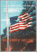 """Movie Posters:War, World War II Propaganda (U.S. Government Printing Office, 1942). Folded, Very Fine+. OWI Poster No. 14 (28"""" X 40"""") """"Remember..."""