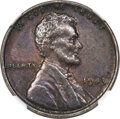 1943 1C Lincoln Cent -- Struck on a Curacao 25 Cents Planchet -- MS61 NGC
