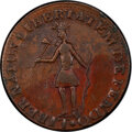 1787 New York Excelsior Copper, Indian and New York Arms, AU53 PCGS. W-5795, High R.6....(PCGS# 436)