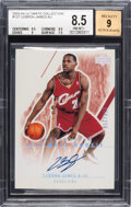Basketball Cards:Singles (1980-Now), 2003 Upper Deck Ultimate Collection LeBron James (Autograph) #127 BGS NM-MT+ 8.5, Auto 9 - #'d 175/250....