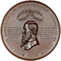 U.S. Mint Medals, (1873) George F. Robinson Mint Medal, Julian-PE-27, MS64 Brown NGC. Copper, 77 mm. Obverse bust facing left, with two wreath...