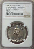 (1947) Eight-Piece Set of C. Smith So-Called Half Dollars NGC. This Set Includes: Daniel Boone - Lexington, 150th Annive...