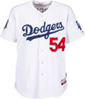 Baseball Collectibles:Uniforms, 2008 Clayton Kershaw Major League Debut Game Worn & Signed Los Angeles Dodgers Rookie Jersey with Photo Match to Preseason Sta...