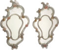 Glass, A Pair of Venetian Glass Mirrors With Floral Appliqués. 37-1/2 x 24-1/2 inches (95.3 x 62.2 cm) (each). ... (Total: 2 Items)