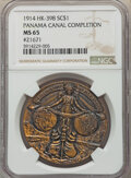 So-Called Dollars, (1914) Panama Canal Completion, So-Called Dollar, Serial #21671, HK-398, R.4, MS65 PCGS. Bronze, 38 mm....