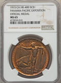 So-Called Dollars, 1915 Panama-Pacific Exposition, Official Medal, HK-400, MS65 NGC. Bronze, plain edge, 38mm....