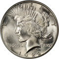Peace Dollars, 1922-S $1 MS66 PCGS. CAC....