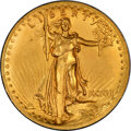 High Relief Double Eagles, 1907 $20 High Relief, Wire Rim -- Cleaned -- PCGS Genuine. Unc Details....